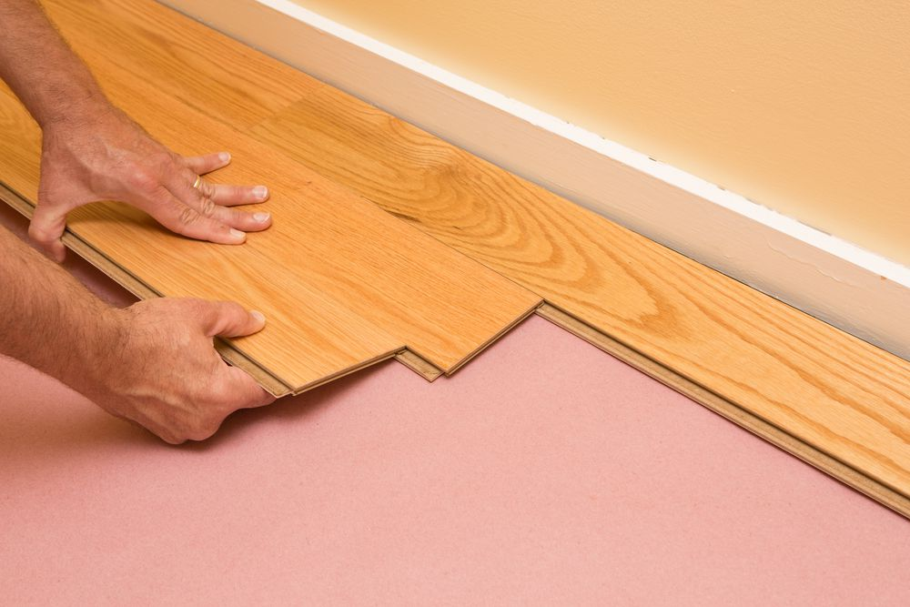 Install the first row of planks